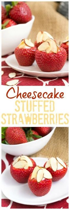 Cheesecake Stuffed Strawberries | An easy, irresistible sweet treat! #strawberry #appetizer #fingerfood