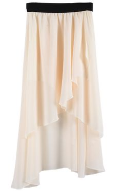 Asymmetrical High Low Chiffon Skirt