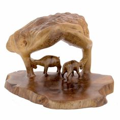 """Gentle Morning"" Walnut root sculpture."