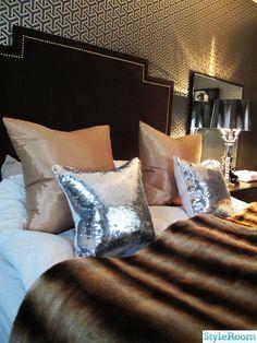 glam faux fur bedding sequin pillows
