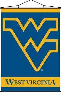 Indoor Banner Scroll West Virginia Mountaineers - 87012