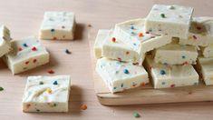 Make a simple two-ingredient fudge recipe starring fan-favorite Betty Crocker™ Rich & Creamy rainbow chip frosting.