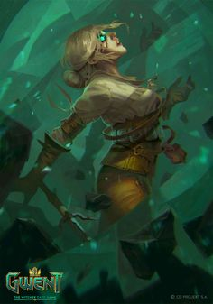 Ciri: Nova Art - Gwent: The Witcher Card Game Art Gallery Ciri Witcher, Witcher Art, Game Character Design, Character Art, Fantasy Warrior, Fantasy Art, The Witcher Game, Human Art, Elements Of Art