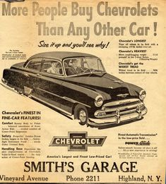 This is a 1920's ad for Chevrolet cars. Its telling people that is the more popular car at the time. Its the way to get people to buy the car.
