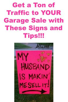 These tips and signs are perfect for getting a ton of traffic to yard sales and garage sales. (Well, maybe not these exact signs. Tgif, Yard Sale Organization, Organization Ideas, Organizing, Garage Sale Signs, Yard Sale Signs Funny, Light Fixture Makeover, Rummage Sale, Diy Blanket Ladder