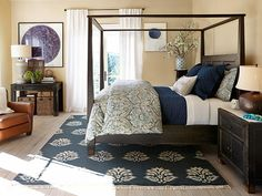 Pottery Barn Bedroom - Navy http://www.potterybarn.com/design-studio/decorate/bedrooms_gallery.html#yy9v5v