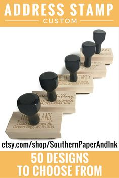 Do you need to address 300 envelopes for your wedding invitations? Grab a custom stamp for your return address at Southern Paper And Ink $25. Click to customize.