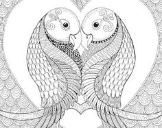 * Lesley Owl *  An intricate and super duper detailed illustration. Hand drawn by myself, coloured by YOU!  Buy it • Print it • Colour it!