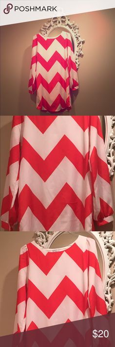 ❤️ Beautiful chevron holiday, date, party dress🎄 ❤️ Beautiful chevron holiday, date, party dress! I love this dress! I've worn it once to a wedding with navy jewelry & once for Christmas church service with green jewelry! The red is a deep blood orange red. This dress fits loosely but has a classy, sophisticated look to it! Perfect for any holiday parties, date nights, weddings or whatever else fits your fancy! 👑 Gabriella Rocha Dresses Midi