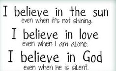 God is there, even when He is silent.