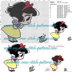Snow white cross stitch pattern