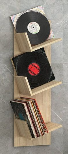 "VCM Schallplatten-Regal ""Sulda"", Wandregal: H. 106 x B. 33 x T. Vinyl Record Display, Record Shelf, Vinyl Record Storage, Lp Storage, Vinyl Shelf, Stockage Record, Vynil Records, Vinyl Room, Lp Vinyl"
