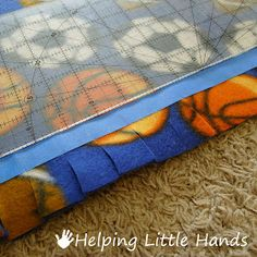 "Sewing Weighted Blanket Pieces by Polly: Double Layered No-Sew ""Braided"" Fleece Blanket Tutorial Braided Fleece Blanket Tutorial, No Sew Fleece Blanket, Weighted Blanket, Fleece Throw, Fleece Blankets, Fleece Hats, Fleece Projects, Easy Sewing Projects, Sewing Tutorials"
