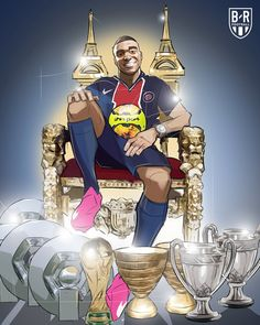 Messi Psg, Mbappe Psg, Lionel Messi, Football Images, Football Pictures, Soccer Jokes, Soccer Drawing, Neymar Football
