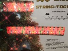 VTG Trim a HOME 100 Fancy Mini Flower Multi Color String Christmas Lights 45 FT #TrimaHOME