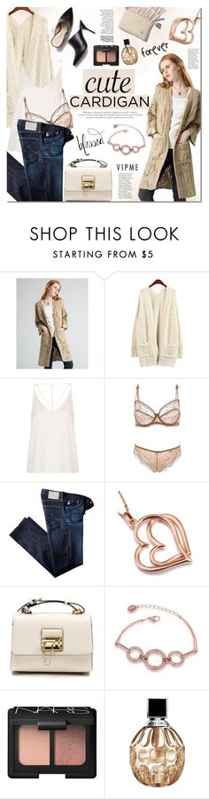 """""""Vipme"""" by mada-malureanu ❤ liked on Polyvore featuring Topshop, 3.1 Phillip Lim, AG Adriano Goldschmied, NARS Cosmetics, Jimmy Choo, women's clothing, women, female, woman and misses"""
