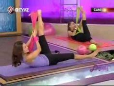 Ebru Şallı Bacak Hareketleri Ebru Şallı Basen ve Kalça İnceltme Zayıflama Egzersizleri sağlık videoları - YouTube