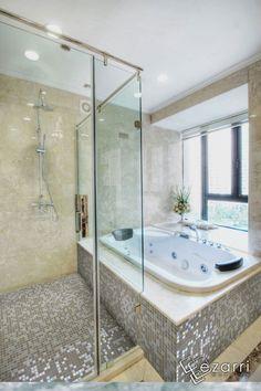 1000 images about mosaique salle de bain on pinterest boutiques glass mosaic tiles and cuisine - Salle de bain mosaique beige ...