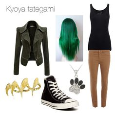 Kyoya tategami by wolfgirlnoni on Polyvore featuring polyvore, fashion, style, Juvia, Dorothy Perkins, Converse and Bjørg