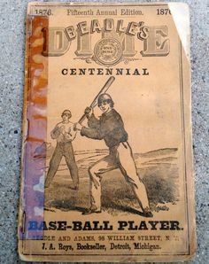 Antique Original Rare 1876 Beadle's Dime Baseball Guide Henry Chadwick Vintage