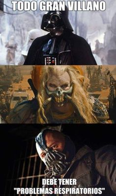 Every great villain must have respiratory issues lol Good Jokes, Funny Jokes, Hilarious, Creepy Games, Hollow Art, Greatest Villains, Mexican Humor, Humor Mexicano, Pinterest Memes