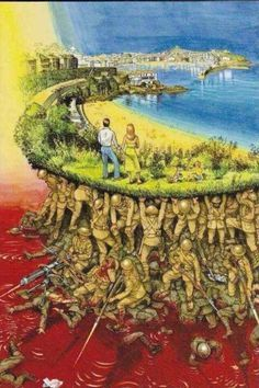 What are some pictures (without text) with deep meaning(s)? Military Art, Military History, Pictures With Deep Meaning, Satirical Illustrations, Deep Art, Social Art, Lest We Forget, Art Graphique, Banksy