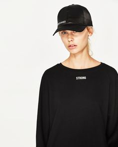 Image 6 of SWEATSHIRT WITH BACK CORDS from Zara