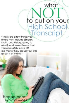 #homeschool #transcript hedua.com