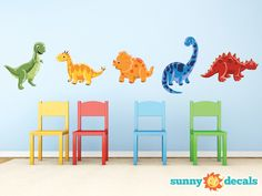 Adorable Dinosaur Fabric Wall Decal
