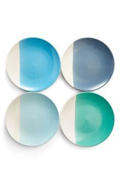 Main Image - Gibson Half-Dipped Dinner Plates (Set of
