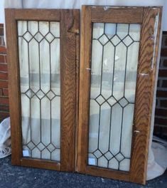 All Windows — Portland Architectural Salvage Leaded Glass Cabinets, Leaded Glass Windows, Stained Glass Door, Glass Cabinet Doors, Window Grill Design, Door Gate Design, Stained Glass Patterns, Beveled Glass, Glass Design