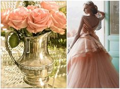 Peach wedding and flowers