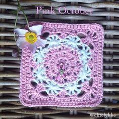breast cancer #crochet square