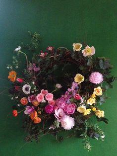 Gorge fresh flower wreath