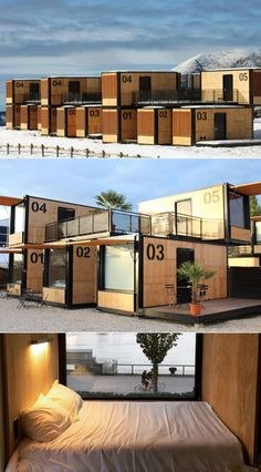 -AccorHotels' Pop-Up Shipping Container Hotel is Mobile and Environmentally-Fri.- AccorHotels' Pop-Up Shipping Container Hotel is Mobile and Environmentally-Friendly AccorHotels a pop-up project. Now why can't we do this for the homeless? Container Hotel, Container Shop, Building A Container Home, Container Restaurant, Sea Container Homes, Hotel In French, Shipping Container Home Designs, Shipping Containers, Shipping Container Cafe