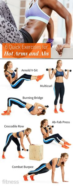6 Quick Exercises to get You Hot Arms and Abs