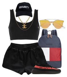 521 by dkleaa on Polyvore featuring moda, adidas Originals, Rebecca Stella For Nelly, Tommy Hilfiger, Chanel and Gentle Monster