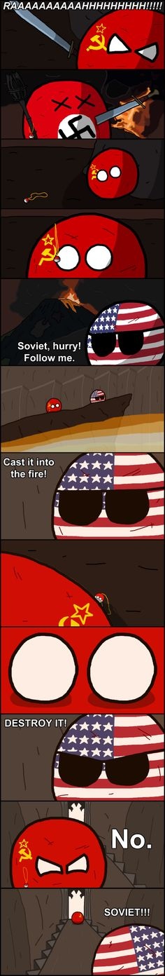 "Lord of the rings part II ""The Day the Strength of Men Failed"" ( USA, Soviet, Nazi, Poland ) by Baron koleye of kolaje #polandball #countryball"