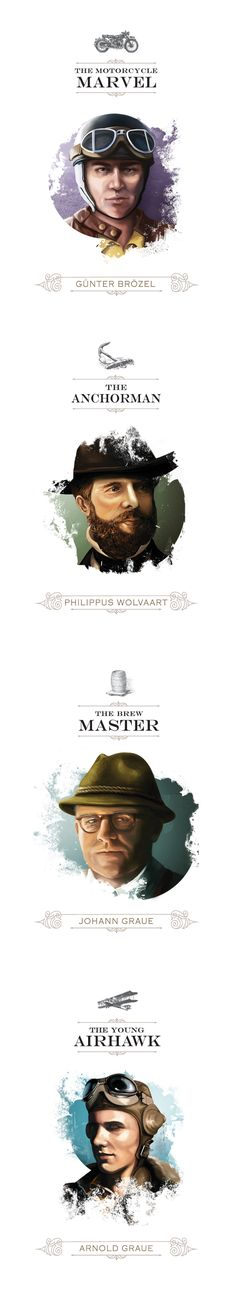 Each Nederburg Heritage Hero was brought to life by using beautifully crafted illustrations.