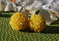 Elegant Mini Rose Bouquet Pure Beeswax Candles by BurnstownBees, $8.00