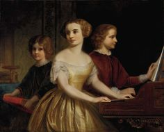 The Parmly Sisters (ca. 1857). Thomas P. Rossiter (1818-1871). Oil on canvas. Smithsonian American Art Museum. The Parmly sisters were the d...