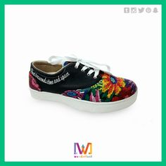 This casual shoes are decorated with Guatemalan handmade fabric! Are you interested? More information on our Facebook page: https://www.facebook.com/Wanderlustgt/?fref=ts