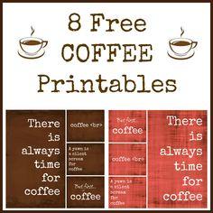 8 Free Coffee Printables