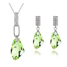 Austrian Crystal Set - Moon breeze ( Olives ) 6324
