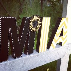 Standing wooden letters home decor wedding by DumontsHandicrafts