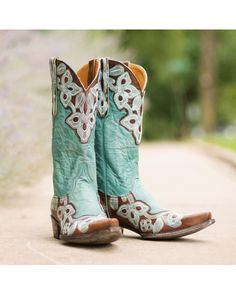 Old Gringo Women's Marrione Boot - Brass/Aqua - I love these!!!