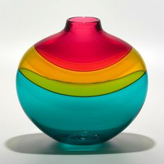 #Glass_Art.  I love the color on this piece.