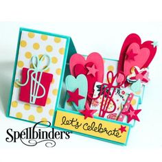 Let's Celebrate WaterFall Card | Spellbinders