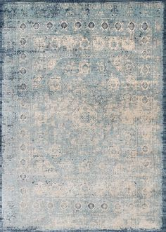 """2'7""""x8'  $359  + coupon for 40% off  Anastasia AF-14 Lt.Blue-Ivory Area Rug from the Assorted Transitional Rugs collection at Modern Area Rugs"""