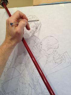 How to transfer your drawing to your canvas. -- by Artist Bryan Larsen.